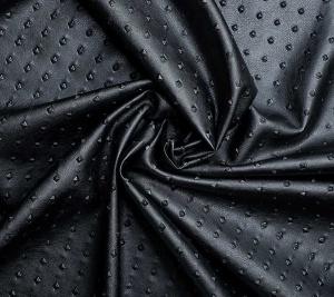 Włoska Eco skóra czarna drobne figury