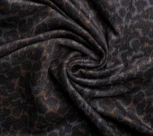 Włoska wiskoza ciemnobrązowa  panterka