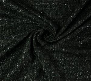 Chanelka czarny lurex włoska