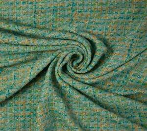 Chanelka materiał Niebieska
