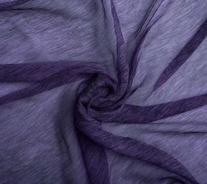 Włoski szyfon jedwabny- czarno-fioletowy