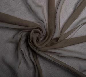Szyfon jedwabny - kolor khaki