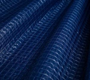Włoski Nylon wodoodporny niebieski pikow