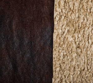 Sztuczne futro w kolorze brązowym