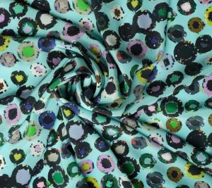 Jedwab drukowany - kolorowe koła