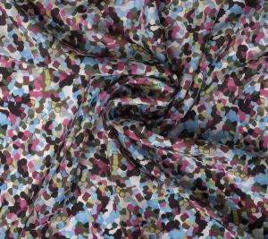 Jedwab krepa - kolorowe groszki