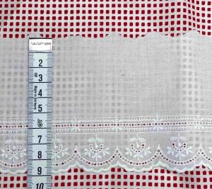 Taśma bawełniana Haft - biała