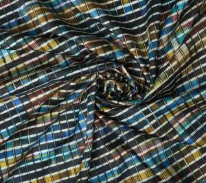 Bawełna organiczna - geometryczny wzór