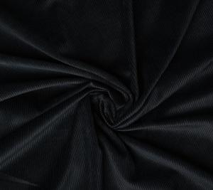 Sztruks cienki koszulowy - czarny kolor