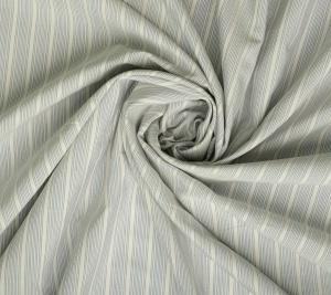 Jedwab z bawełną - pasy na szarym tle
