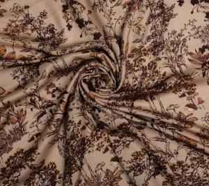 Wiskoza drukowana w motyw leśnej flory