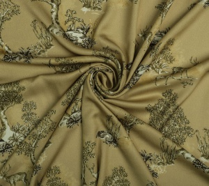 Wiskoza drukowana - motyw leśny