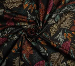 Bawełna drukowana - motyw roślinny