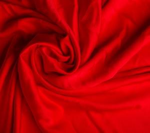 Wiskozowa krepa gruba - czerwień