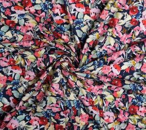 Włoska bawełna drukowana - kwiaty