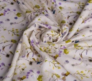 Włoska wiskoza biała - drobne kwiatki