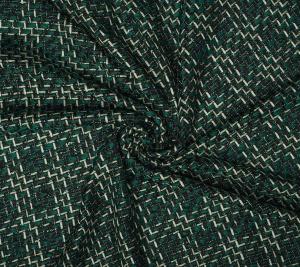 Chanelka wełniana - zieleń/ecru