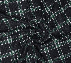 Chanelka wełniana - zielona krata