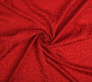Wiskoza żakardowa - czerwona panterka