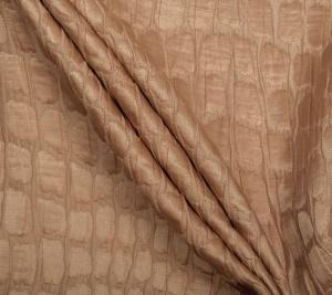 Jedwab jasno - brązowy kolor - żakardowy
