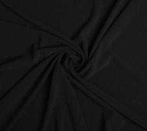 Krepa wełniana czarna