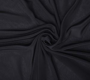 Krepa jedwabna czarna