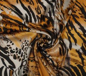 Jedwab satynowy zebry tygrysy lwy