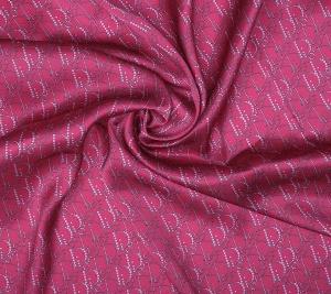 Jedwab sygnowany różowy Dior