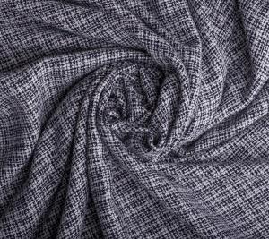 Włoska wiskoza biało czarna krateczka