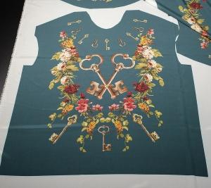 Oryginalna bluzka D&G. Krepa jedwabna sygnowana.