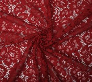 Koronka materiał koderowa czerwona