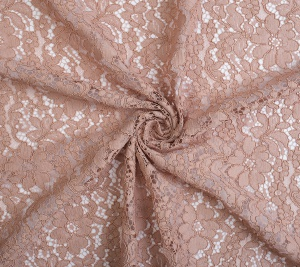 Koronka materiał koderowa blady róż