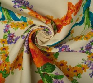 Jedwab w kwiaty kostiumowo sukienkowy - sygnowana GG
