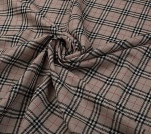 Wełna kostiumowa w stylu Burberry - krata tartan
